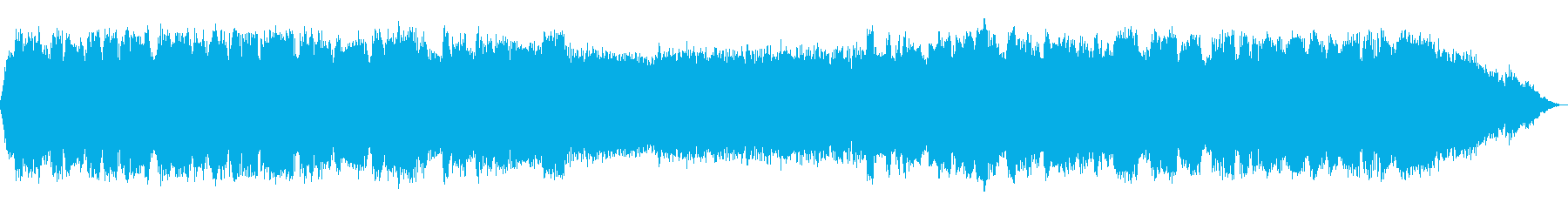 優しい森のイメージのヒーリング音楽の再生済みの波形