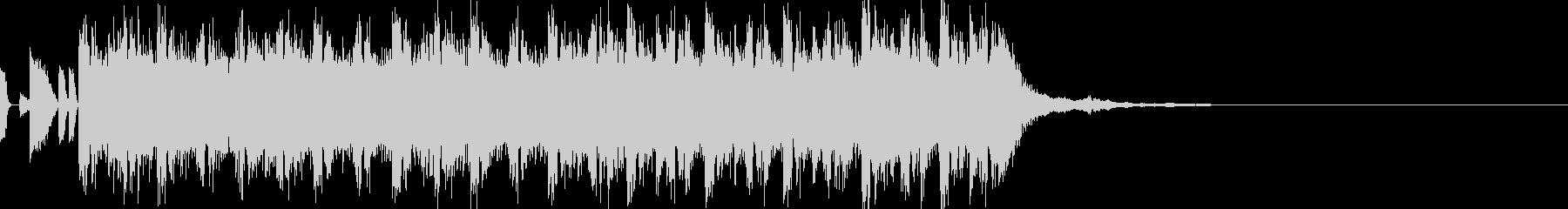 インパクトのあるテクノジングル15secの未再生の波形