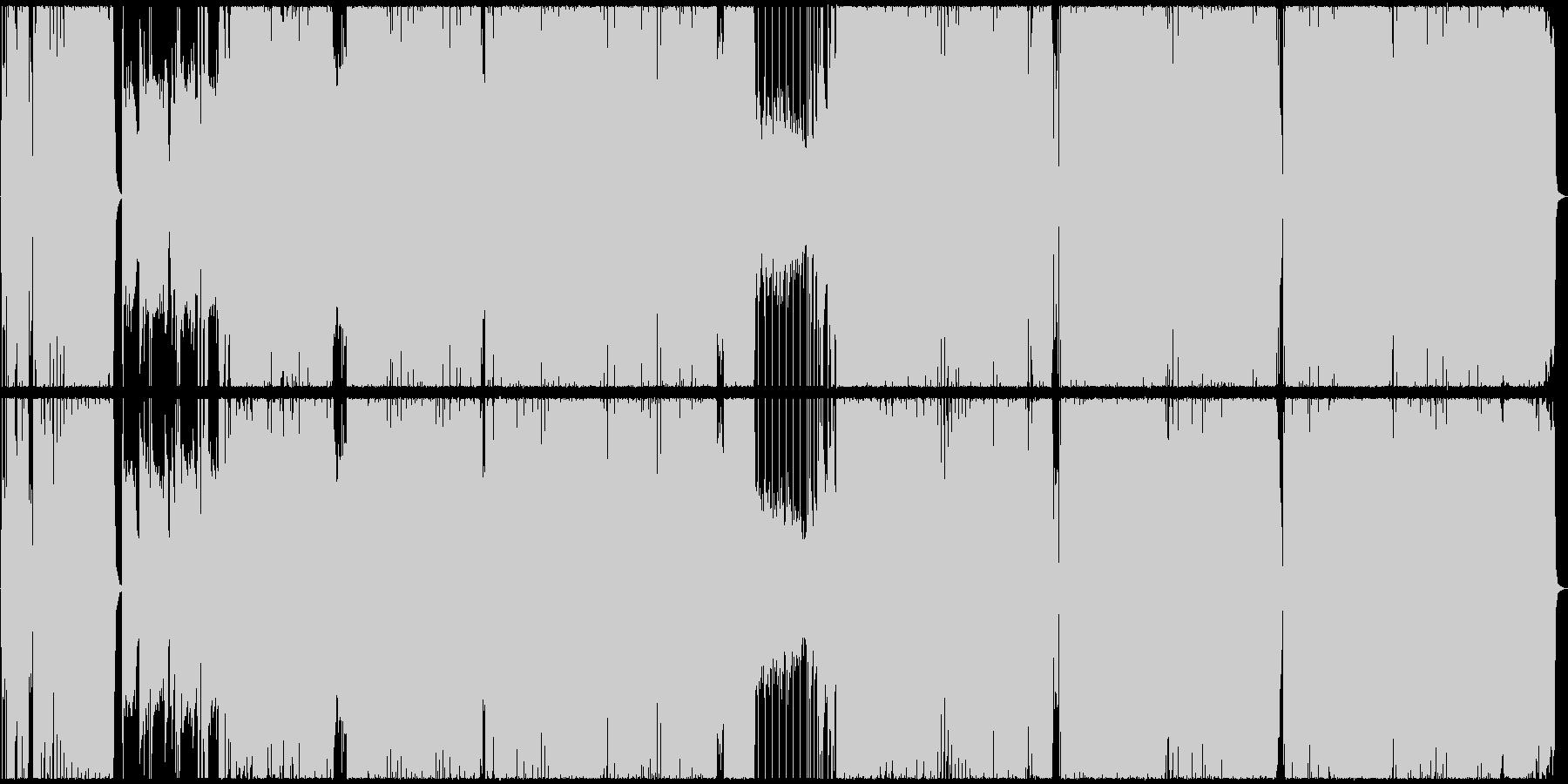 アニソン風、王道ガールズROCKの未再生の波形