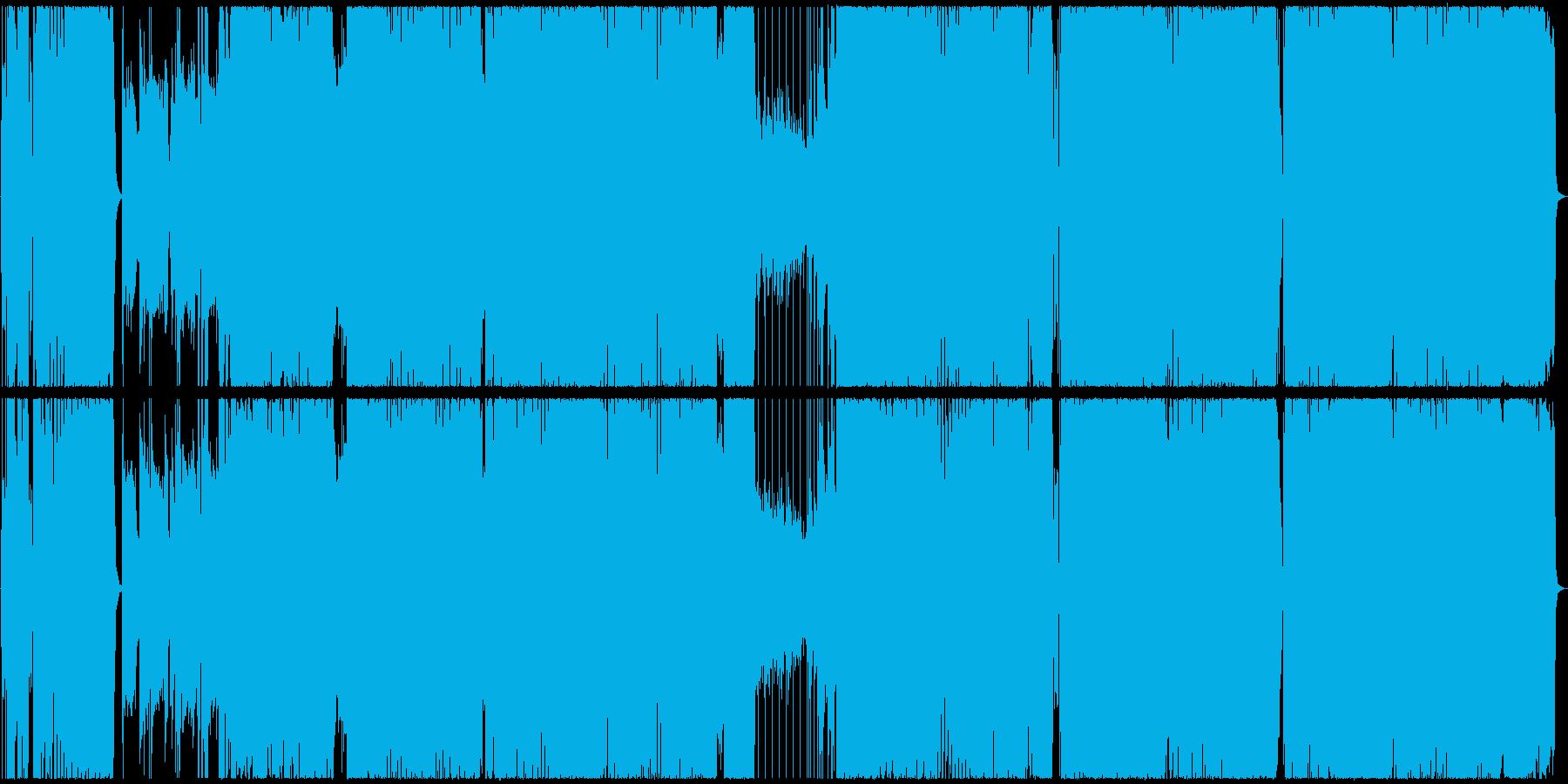 アニソン風、王道ガールズROCKの再生済みの波形
