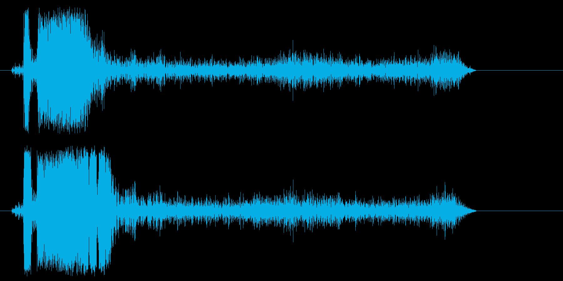 スピード感がありキレのある効果音の再生済みの波形