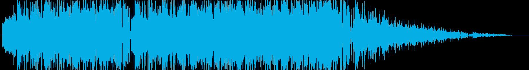 レトロゲーム風 ボス戦闘曲の再生済みの波形