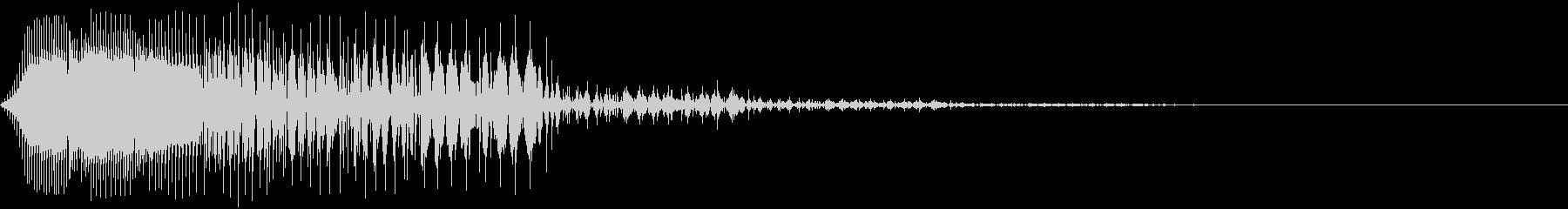「キャンセル」などのイメージの電子音の未再生の波形