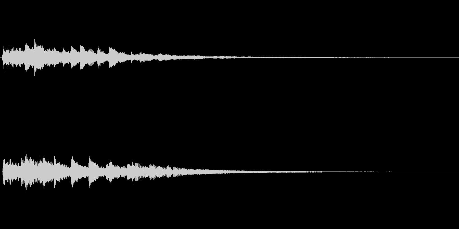 不安定、不可解、不気味なピアノソロ 17の未再生の波形
