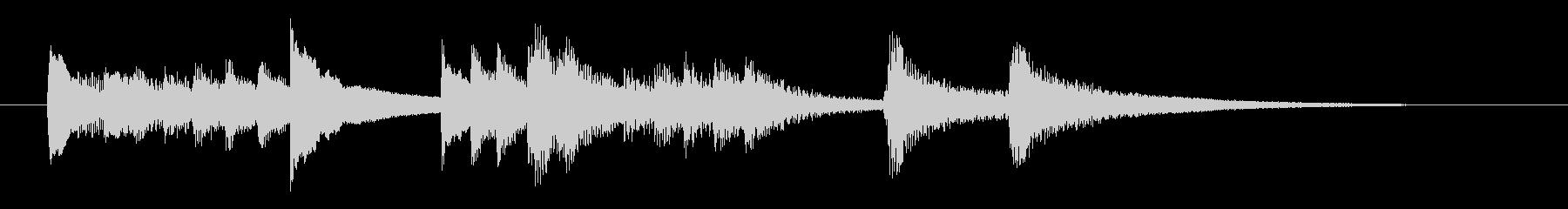 ピアノによるバラード的なジングル曲の未再生の波形