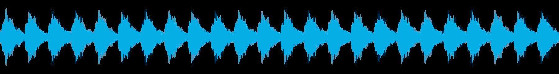 踏切の音01(カンカンカンカン)ループの再生済みの波形