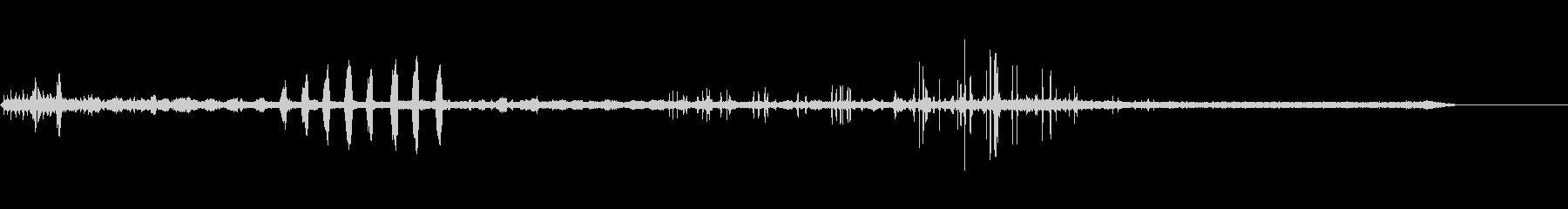 フライングダックの未再生の波形