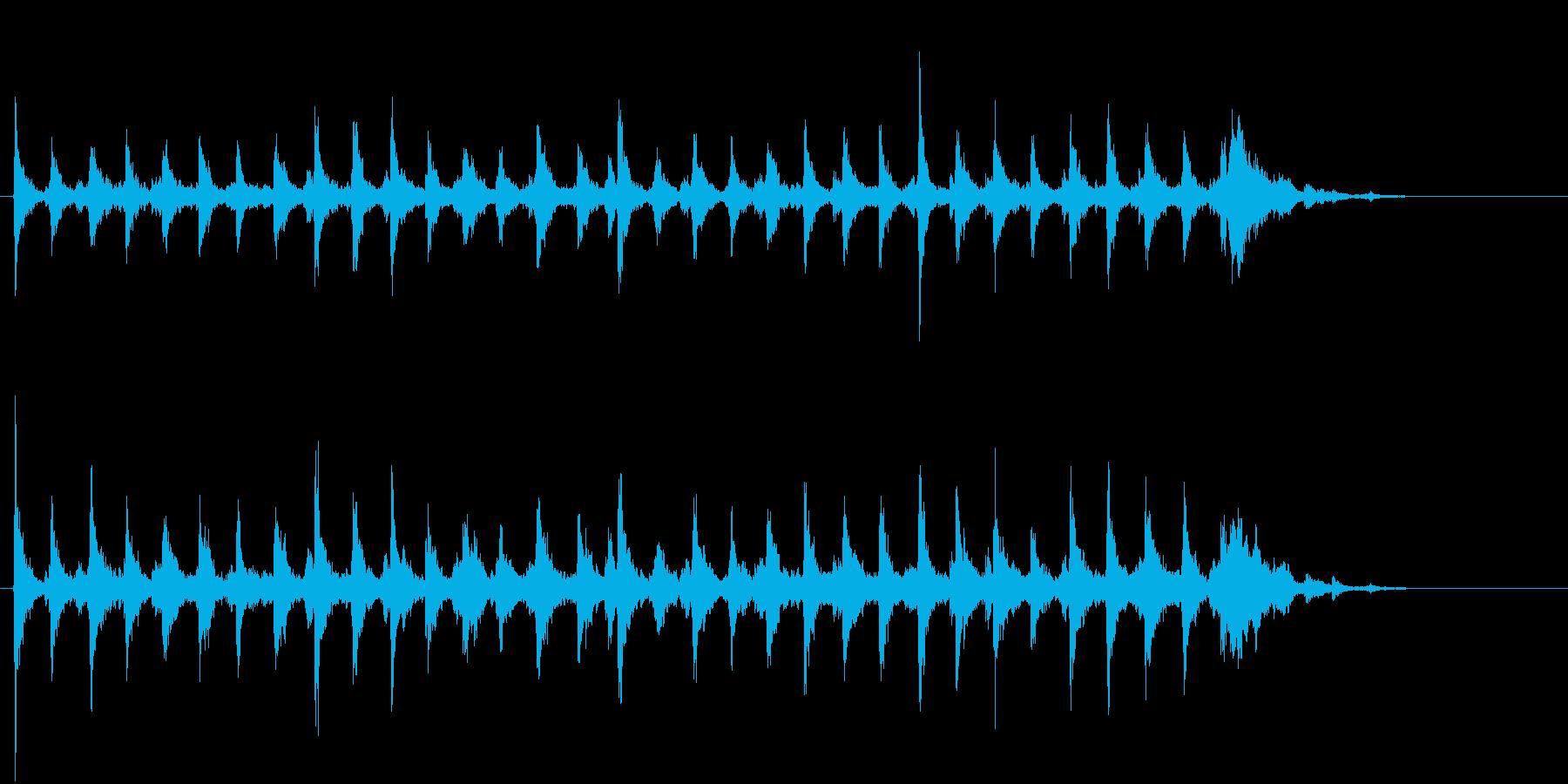 Xmasに最適トナカイベルのループ音07の再生済みの波形