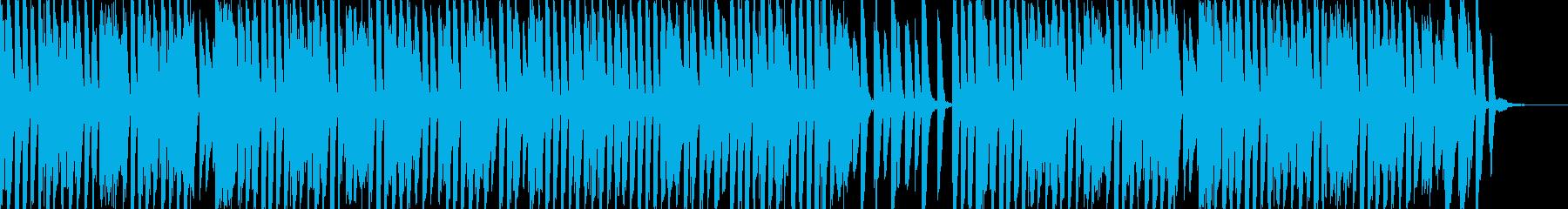 陽気で楽しいリズミカルなお洒落ピアノ曲の再生済みの波形