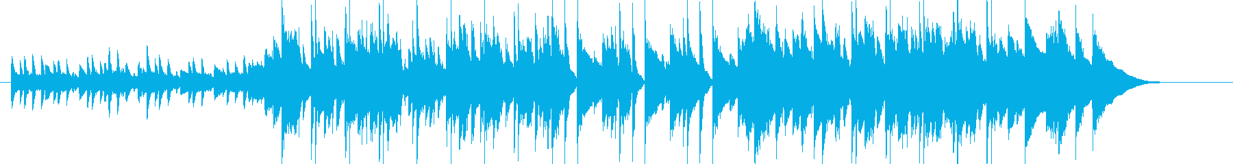 落ち着いて充実した雰囲気のピアノBGMの再生済みの波形