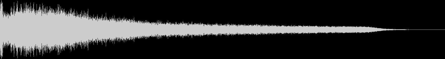 カジノスロット定番トップシンボル音7の未再生の波形