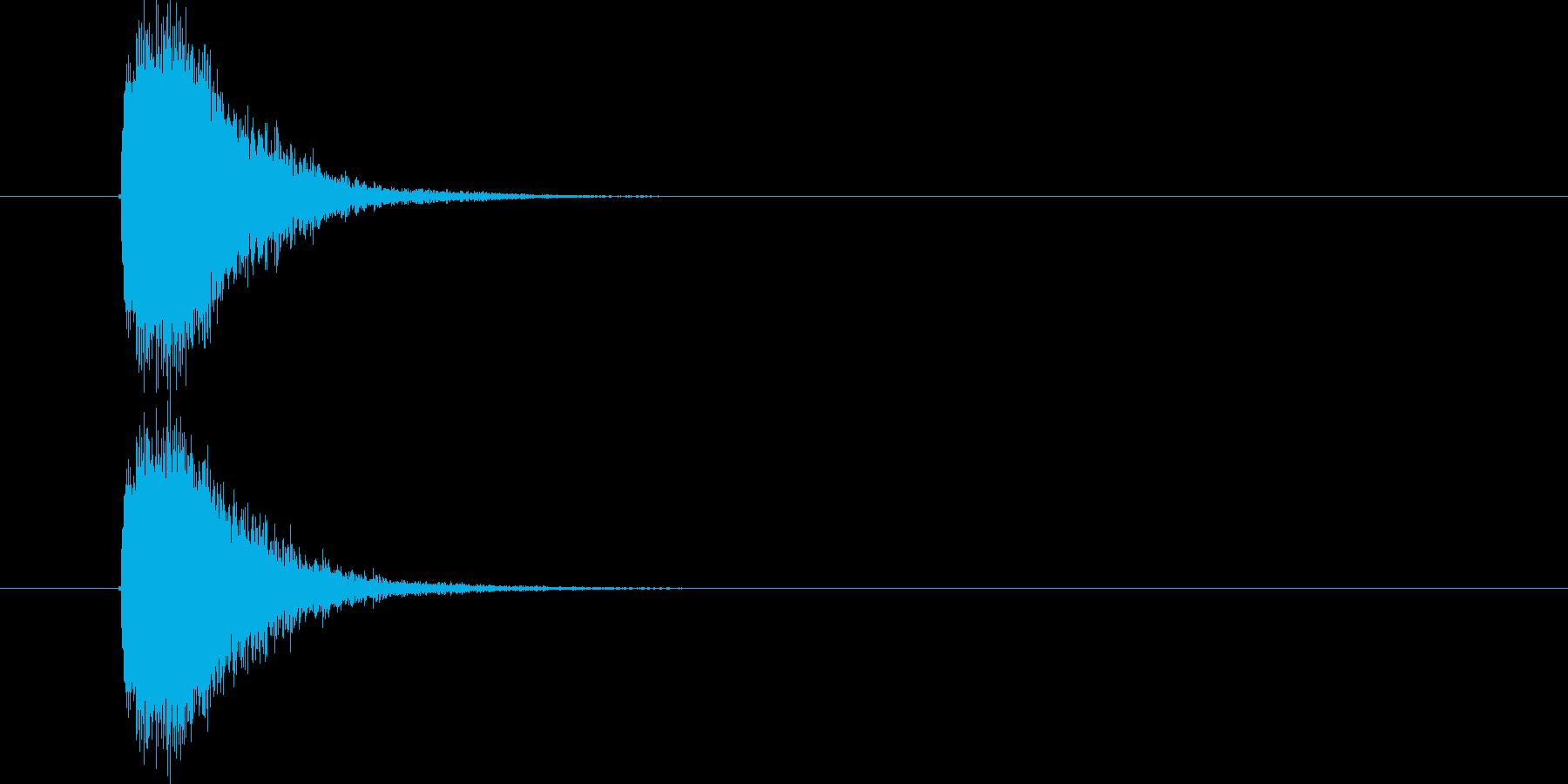ジャラランという効果音の再生済みの波形