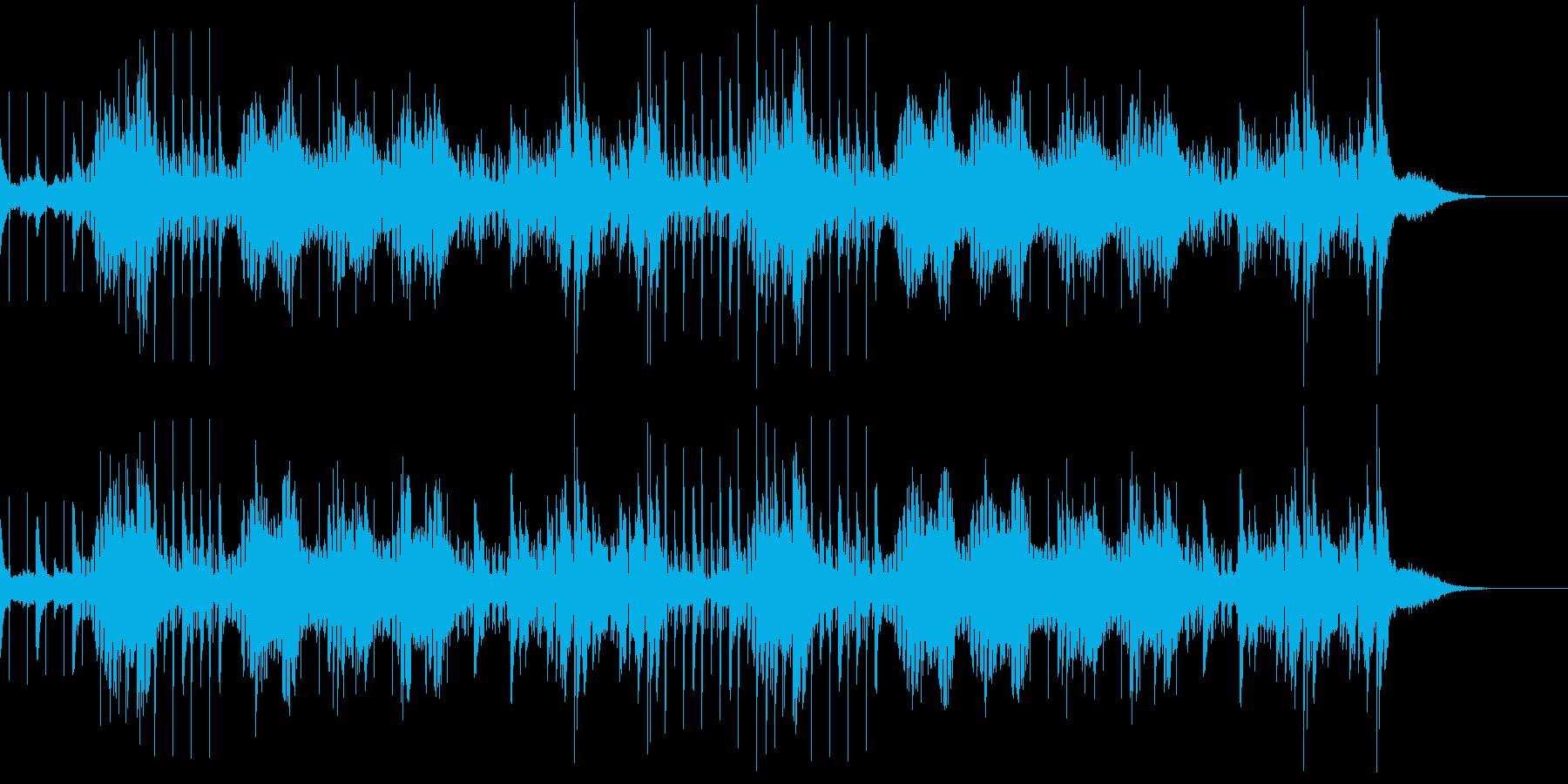 6/8拍子のスペイシーなエレクトロ曲の再生済みの波形