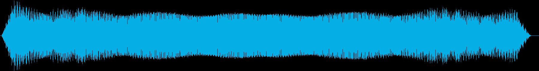ファミコンの野球ゲームで球を打ち上げた音の再生済みの波形