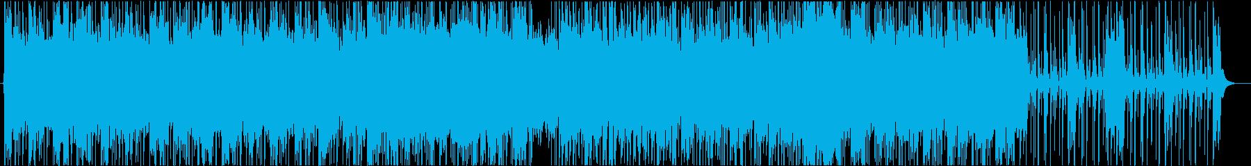 ギターで奏でるファンクナンバーの再生済みの波形