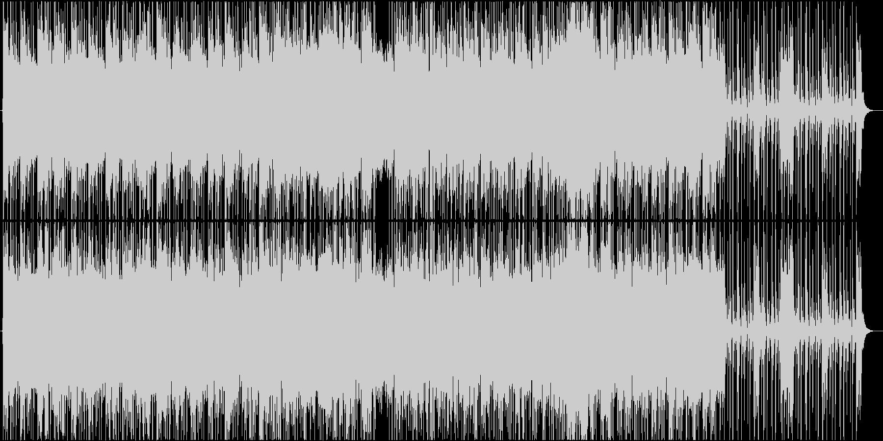 ギターで奏でるファンクナンバーの未再生の波形