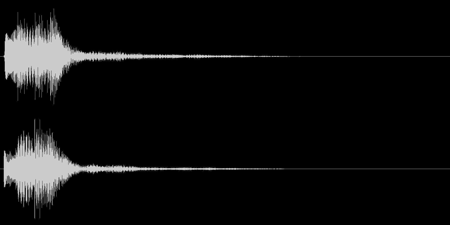 タララ(決定音・ボタン音・選択音)の未再生の波形