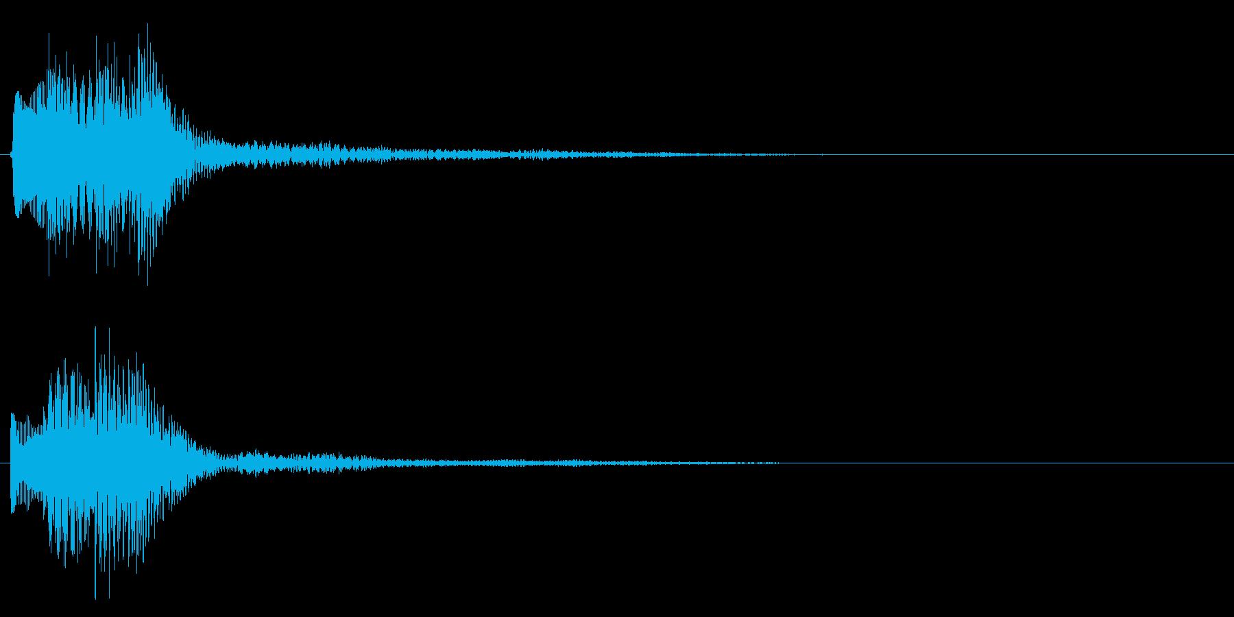 タララ(決定音・ボタン音・選択音)の再生済みの波形