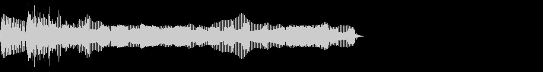 お馴染みのインパクト音!レゲエホーン2回の未再生の波形
