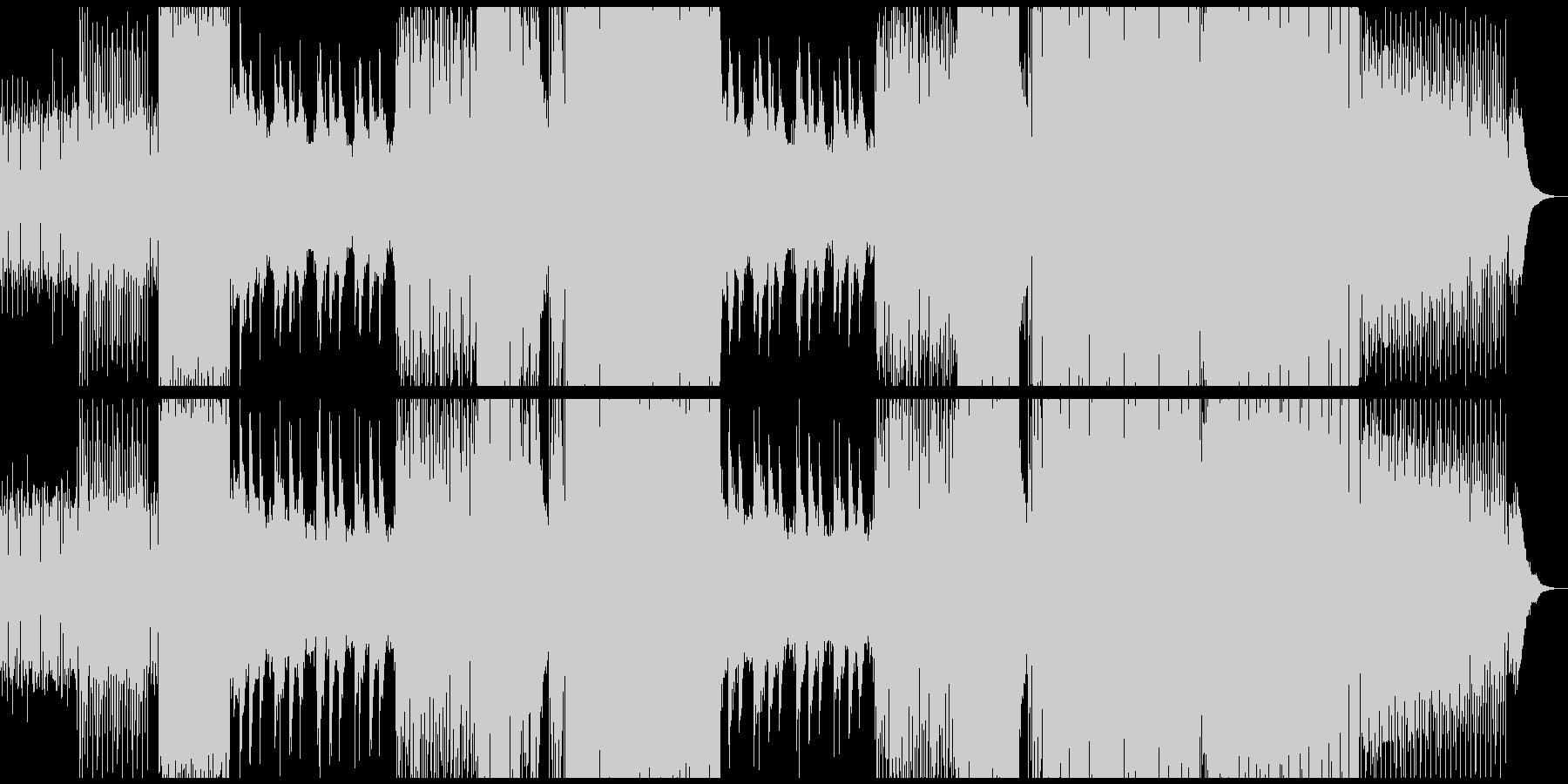 無機質クールなシンセサウンドの未再生の波形
