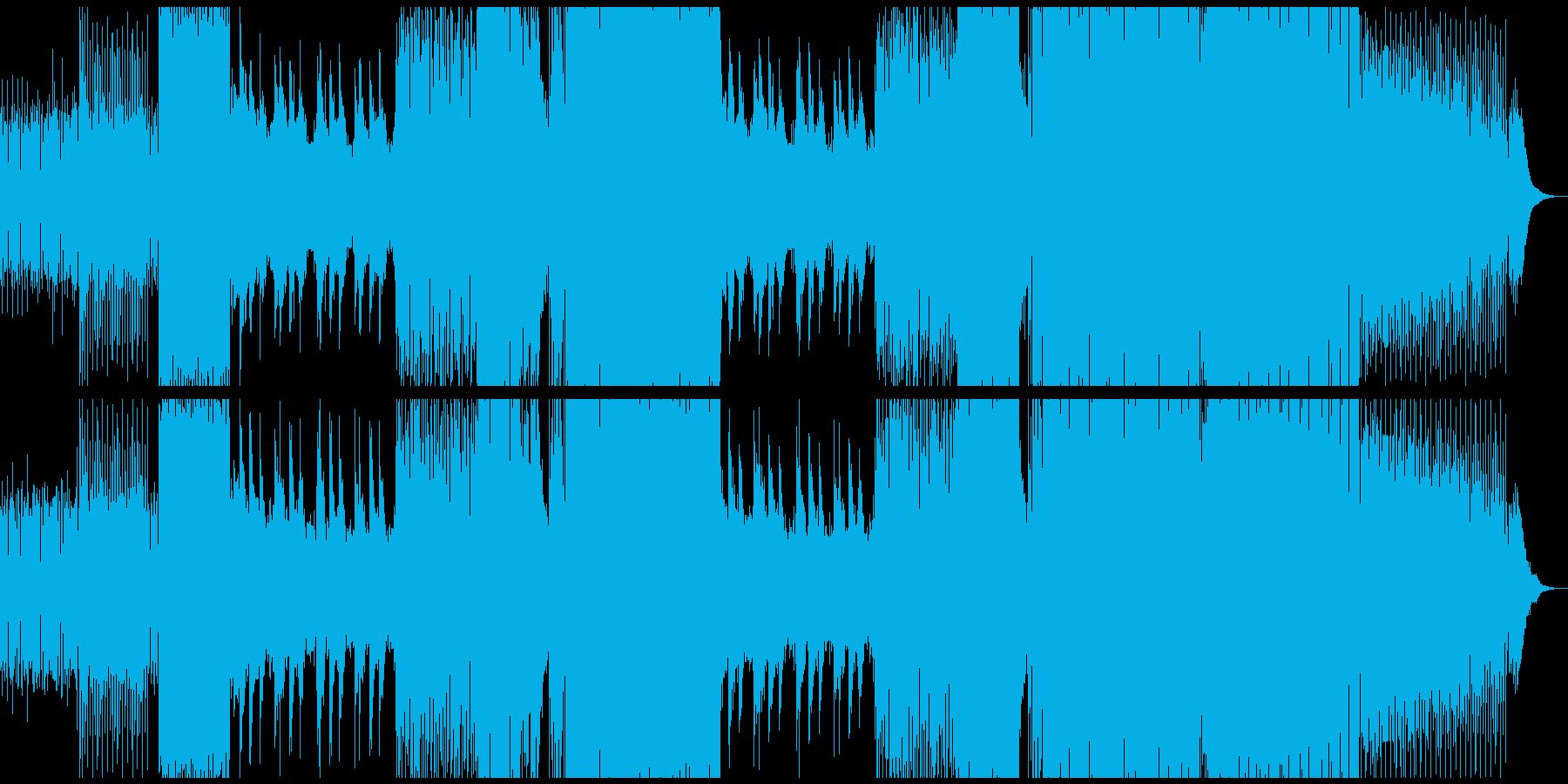 無機質クールなシンセサウンドの再生済みの波形
