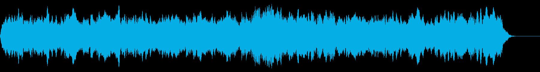 不思議な雰囲気の声に似たシンセサイザー曲の再生済みの波形
