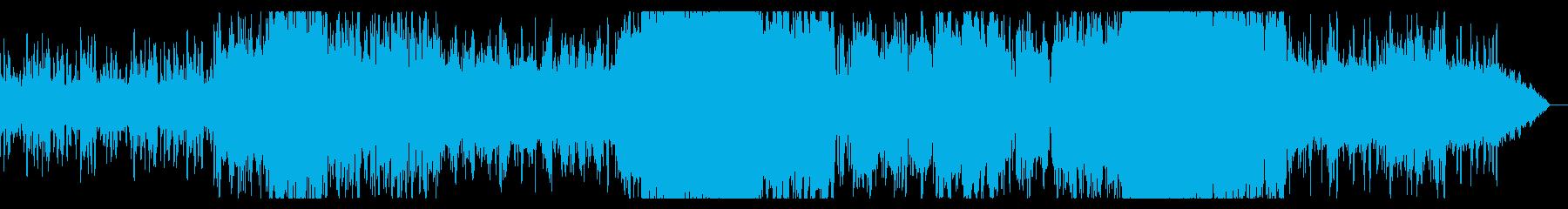 不安感誘うノイズのみのIDMの再生済みの波形