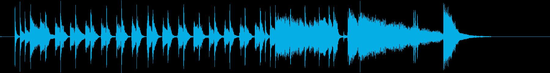 シンプルなブルースの再生済みの波形