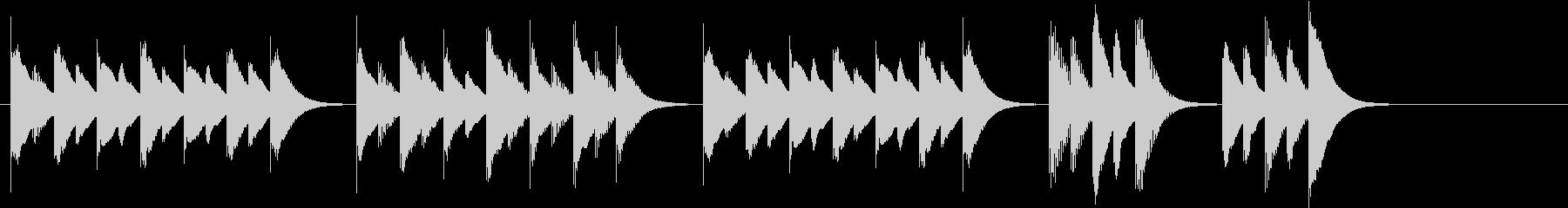 木琴で作った明るく軽快で短い曲の未再生の波形