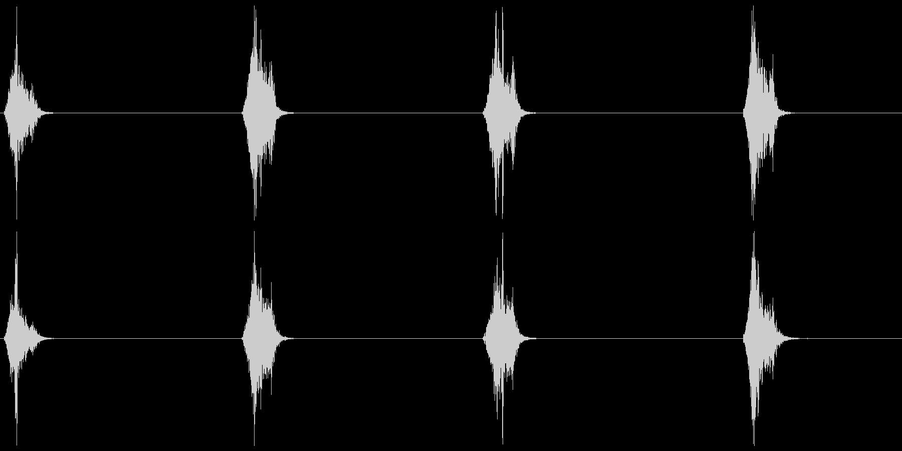 スズメの鳴き声 A 短めの未再生の波形