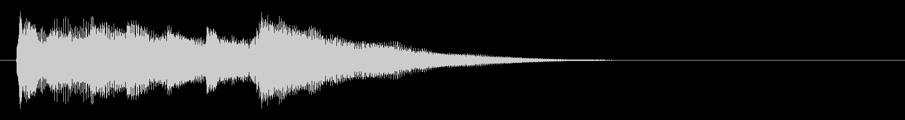 番組の転換シーンをイメージしたピアノソロの未再生の波形