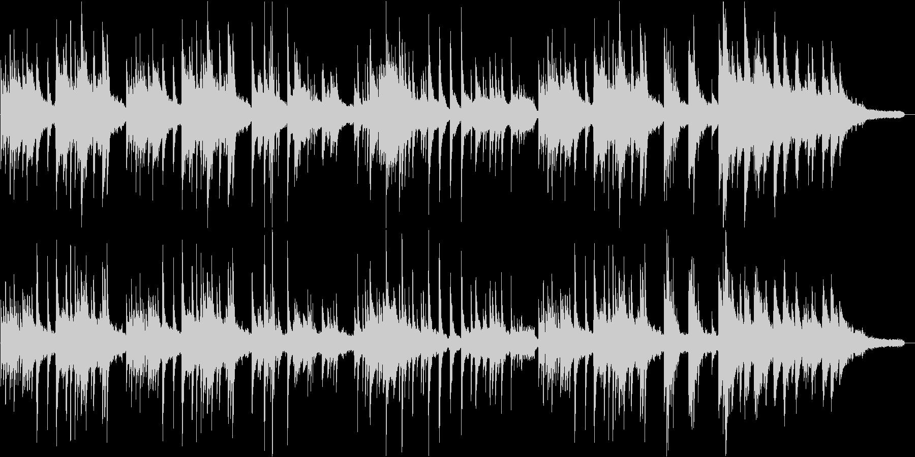 切ない、ピアノとストリングスのバラードの未再生の波形