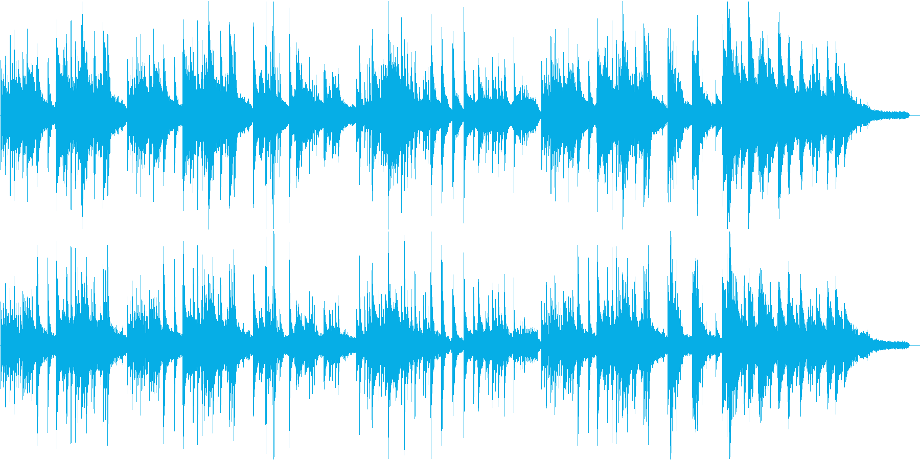 切ない、ピアノとストリングスのバラードの再生済みの波形