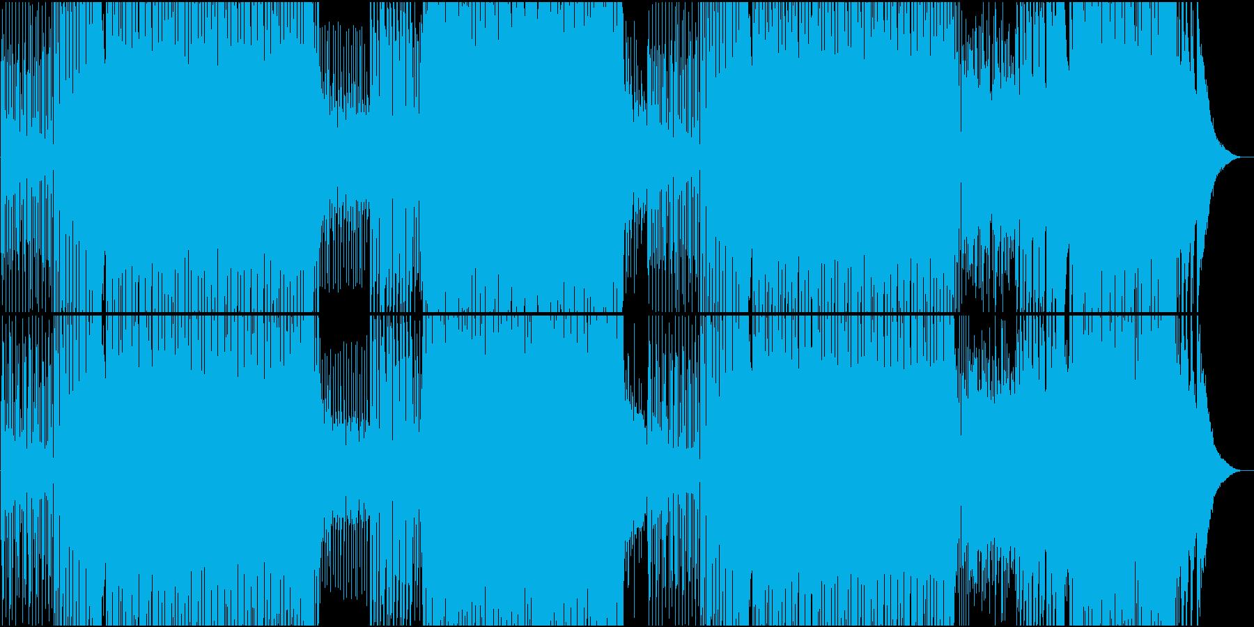 映像用速いシーケンスが気持ちいEDMの再生済みの波形