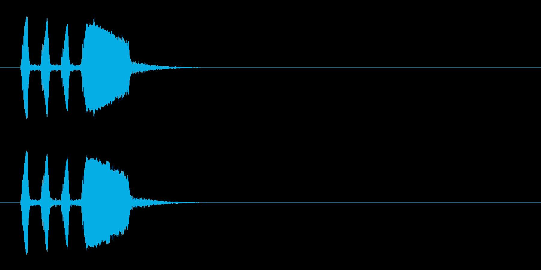 脱力感のあるコミカルな印象のテクノの再生済みの波形