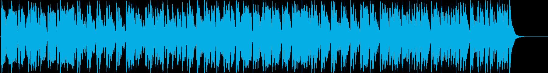 クリスマスソング「もろびとこぞりて」の再生済みの波形