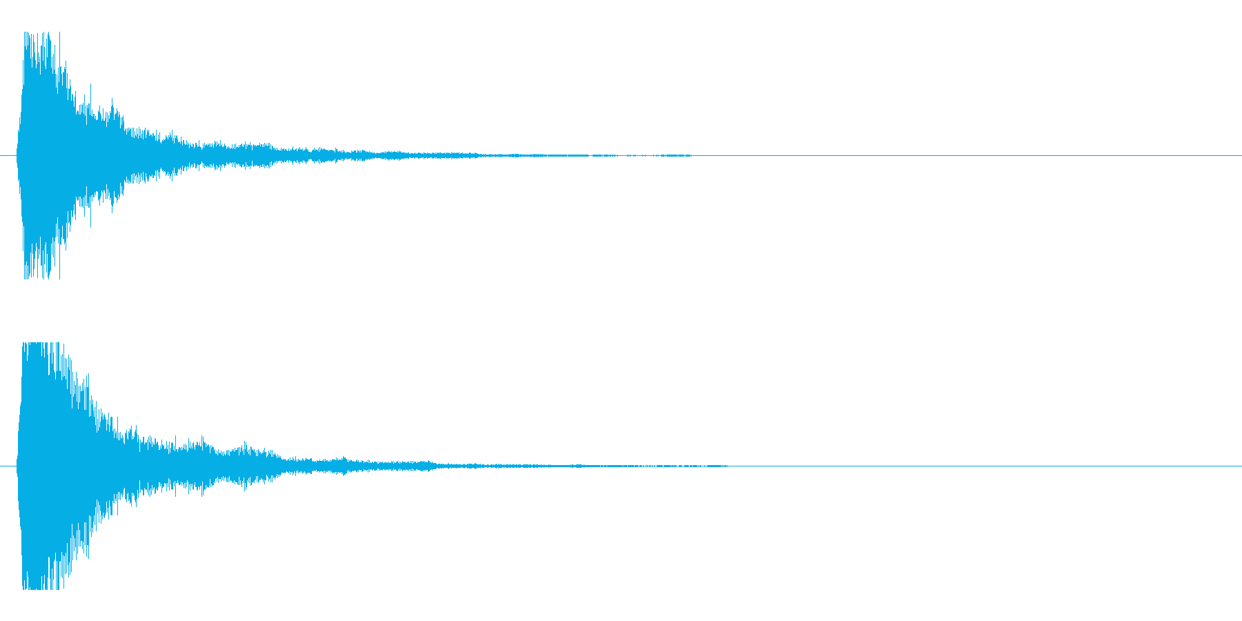 レーザー音-47-1の再生済みの波形
