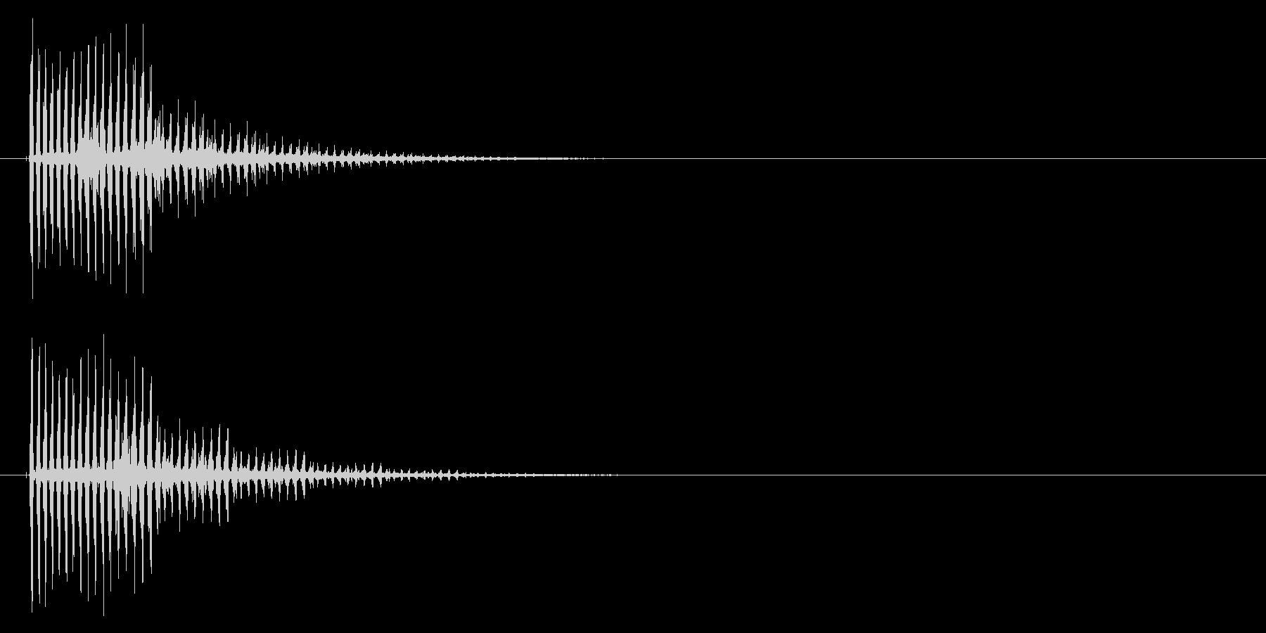 キューン(ビーム音)の未再生の波形