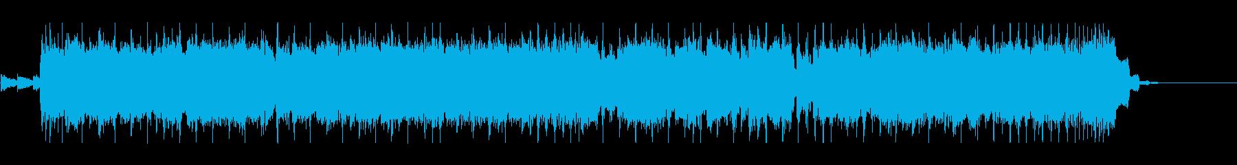 へヴィロックなBGMの再生済みの波形