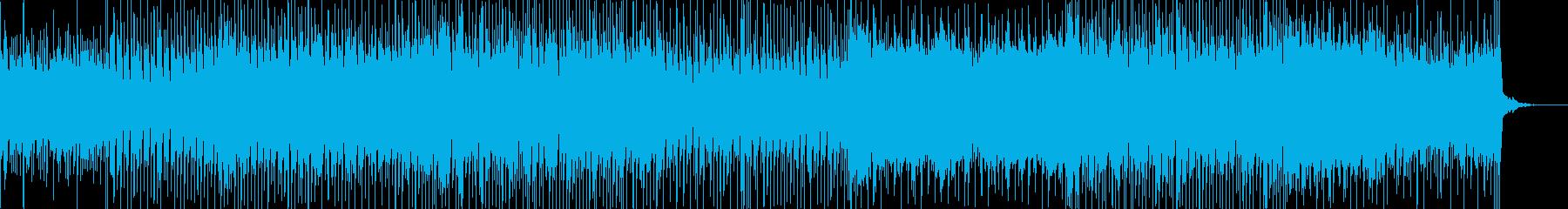 元気な感じのテクノミュージックの再生済みの波形