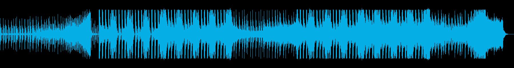 お洒落なアップテンポのテクノポップの曲の再生済みの波形