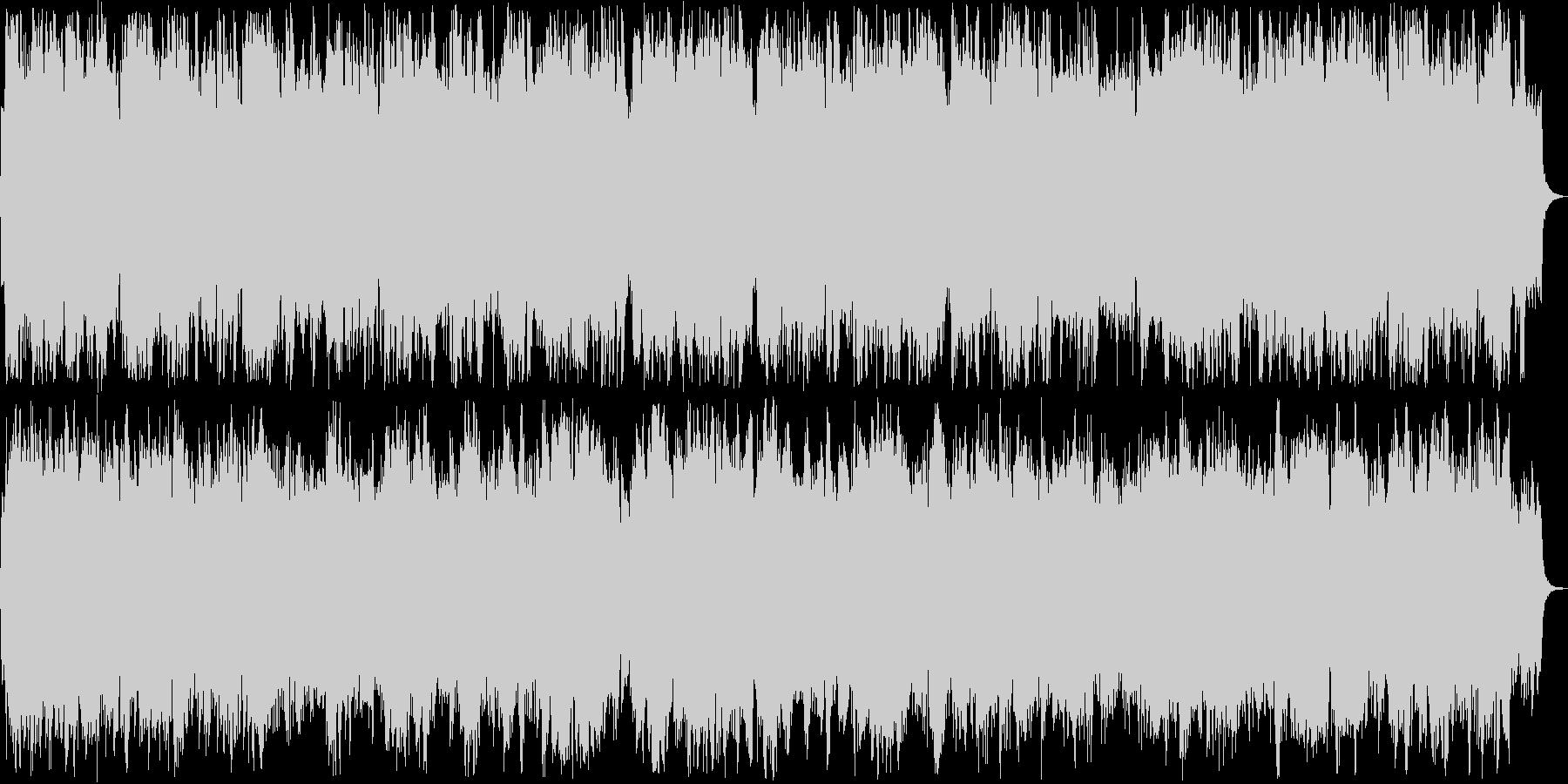 優しい管楽器ピアノシンセサウンドの未再生の波形