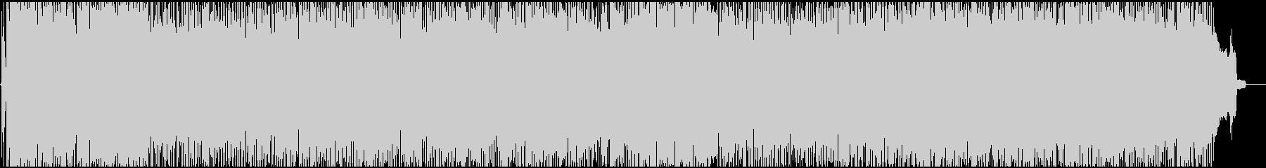 エネルギッシュで勢いのあるノリノリロックの未再生の波形