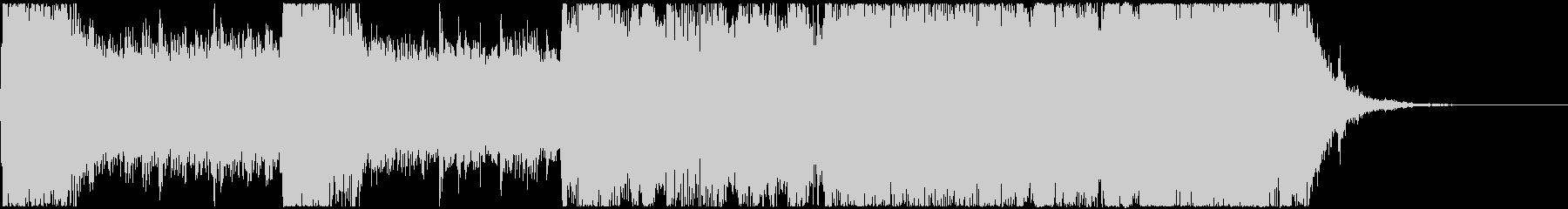 パワフルなアニソンオープニング風ジングルの未再生の波形
