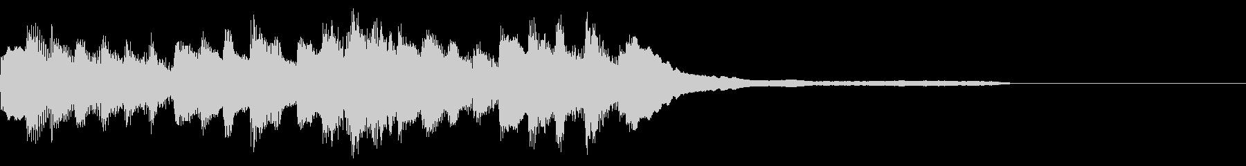 透明感、浮遊感があるピアノジングルの未再生の波形