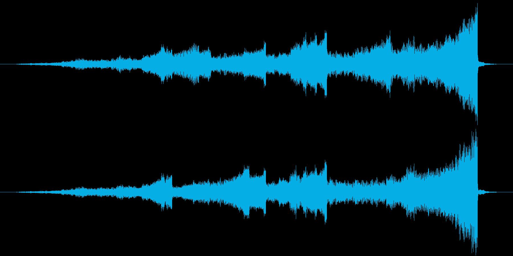 LRに振り分けられたリバースイントロの再生済みの波形
