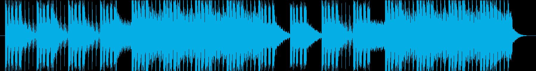 にぎやかなEDM・ドキドキ感、スケール感の再生済みの波形