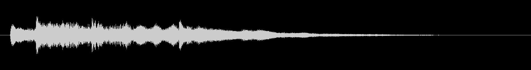 優しく穏やかなベル系サウンドロゴの未再生の波形