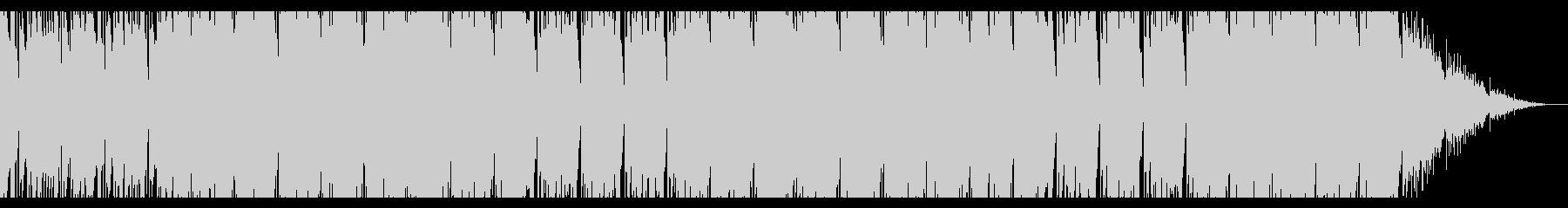 エネルギッシュでパワフルな切ないBGMの未再生の波形