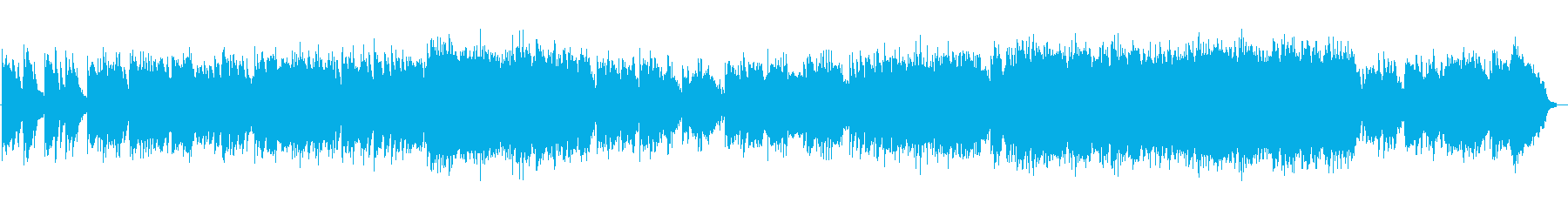 Bright and refreshing violin song's reproduced waveform